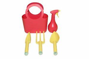 Kunststoff Gartengeräte Set 5-teilig rot