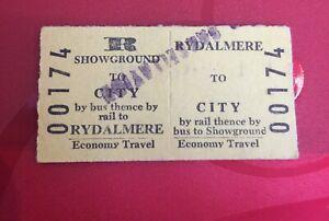 Vintage NSW Railway Tickets Return Showground To City And Rydalmere