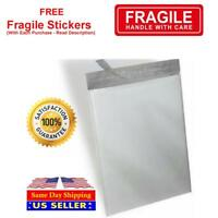 White Poly Mailer Self Seal Shipping Bags Plastic Mailing + Free Fragile Sticker