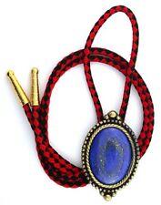 Natural Oval 40x30 Lapis Lazuli Cab Cabochon Gem Bola Bolo Tie Cord Tips EBS3508