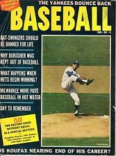 1966 Sports Quarterly Baseball magazine, Sandy Koufax, Los Angeles Dodgers~ Fair