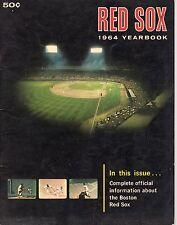 Boston Red Sox  1964 Yearbook  Rookie Tony Conigliaro/Carl Yastrzemski EX/Spahn