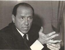 Silvio Berlusconi mit Originalautogramm auf Illustriertenfoto -sehr,sehr selten