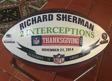 🏈 Seahawks v 49ers Thanksgiving 2014 Presentation Used Game Football Sherman