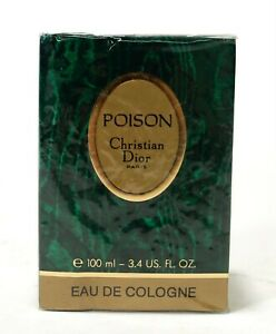AUTHENTIC VTG SEALED Poison Eau de Cologne EDC Spray Christian Dior 100ml 3.4oz