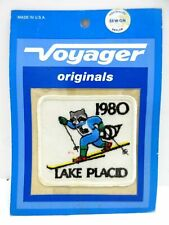 VINTAGE SOUVENIR PATCH 1980 Winter Olympics LAKE PLACID Cross Country Skiing