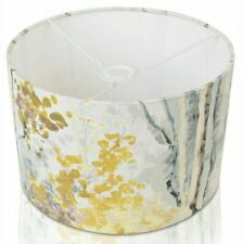 White & Yellow Floral Cotton Drum Lampshade Lamp Shade