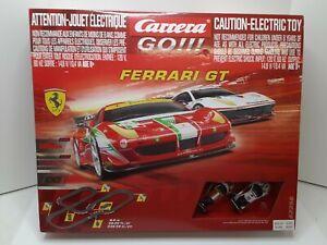 FERRARI GT CARRERA GO 1:43 RED CHAMPIONS SLOT CAR SET #62394 SLOT CARS NEW SET