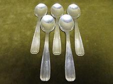 5 cuillères à glace métal argenté alfenide christofle art deco (ice cream spoons