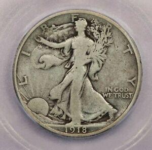 1918-S 1918 Walking Liberty Half Dollar 50c ICG VG8