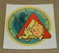 HERGE - TINTIN - DECALCOMANIE - BON VOYAGE / GOOD TRIP ( TBE )