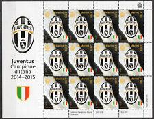 "2015 SAN MARINO ""JUVENTUS CAMPIONE D'ITALIA"" minifoglio sheetlet MNH**"