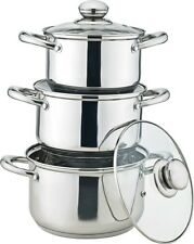 Royal Cuisine 3 Piece Stainless Steel Stock Pot Set
