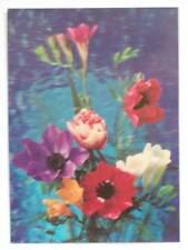 CARTOLINA POSTCARD FLOWER LENTICULAR ROTALCOLOR 3D FIORI 1978 ( M14-9- )