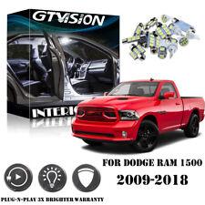 10x White Interior LED Light Kit Package For Dodge RAM 1500 2500 3500 2009-2018