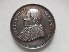 Vaticano medaglia argento Pio IX anno XX