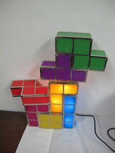 TETRIS COLORFUL LAMP NIGHT LIGHT 7 PCS  BLOCKS  WORKS