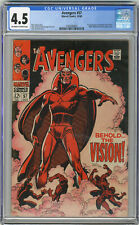 1968 Avengers 57 CGC 4.5 1st Silver Age Vision