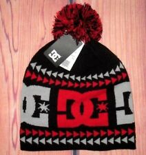 MENS DC SHOES WINTER POM BEANIE HAT CAP ONE SIZE