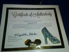 Cinderella Slipper Jeweled Vip Pin ~ Original Package Certificate Of Auth. New