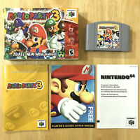 Mario Party 3 Nintendo 64 N64 Complete CIB W/ Box Manual Inserts Tested