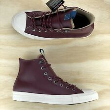 Converse Chuck Taylor All Star Hi Top Dark Red Burgundy Shoes 162384C Size 9