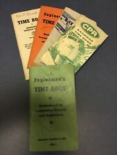 VINTAGE 1940's to 1960'S RAILROAD TIME BOOKS 5 total Some have entries.