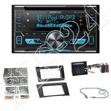 Kenwood DPX5000BT CD Radio+Mercedes E-Klasse(W211)2-DIN Blende black+ISO-Adapter