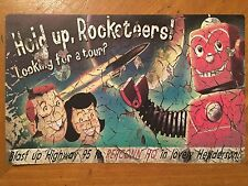 Tin Sign Vintage New Vegas Repconn Hold Up Rocketeers!