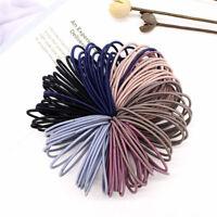50PCS Women's Hair Ties Rope Ponytail Holders Elastic Rubber Hair Scrunchies