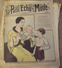 1933 Gravure Ancienne Petit Echo de la Mode Maternité élégante Robe d'Intérieur