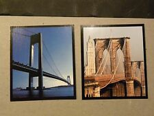 NYC New York City framed picture of famous sites landmarks locations see descrip