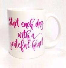 "Inspirational Coffee or Tea Mug ""Start Each Day With A Grateful Heart"""