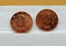 BELGIQUE 2011 2012 : 2 pièces de 5 cent de rouleaux