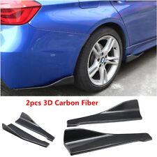 2x Carbon Fiber Style Anti-Scratch Car Rear Bumper Lip Diffuser Splitter Canard