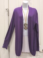 Chico's size 2 (Large) light weight long sleeve open front light purple sweater