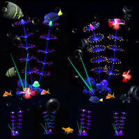 Silicone Glowing Artificial Fish Tank Aquarium Coral Plants Ornament Decoration