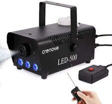 Nebelmaschine Crenova FM-03 Licht tragbar Bühnentechnik 7 Farben 500W Schwarz