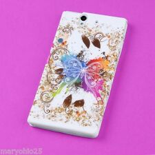 S New Color Butterfly Back Skin Hard Cover Protector Case Sony Xperia Z L36h