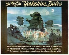 Vintage Rail travel poster  A4 RE PRINT Yorkshire Dales North Eastern Rail