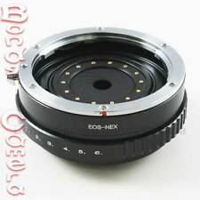 Build in Aperture Canon EOS EF Lens to SONY NEX E Mount Adapter NEX-7 5T A5000