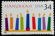 2001 34c Hanukkah, Festival of Lights Scott 3547 Mint F/VF NH