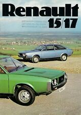 Renault 15 GTL & 17 TS 1976 UK Market Sales Brochure