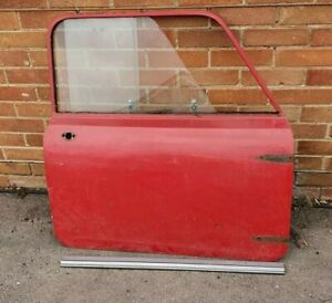 Early 1959 - Classic Mini Mk1 Driver's Door With Chrome Catches and Repair Panel