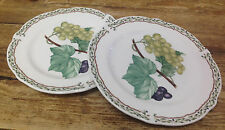 Noritake Royal Orchard Fruit 2 Bread Butter Plates Vines Primachina Green Grapes