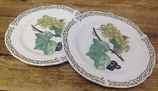 Noritake Royal Orchard Fruit 2 Bread Butter Plates Vines Primachina Green Grapes