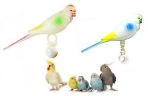 -Caged Bird Fake Plastic Buddy Budgie Companion Mate Friend Toy Budgie