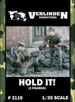 Verlinden 1:35 Hold IT! Waffen-SS Soldiers - 2 Resin Figures Kit #2119