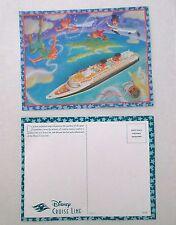 DISNEY Cruise Line 2002 PETER PAN Ship POSTCARD Mint Condition
