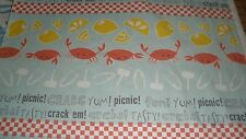 New HTF Maude Asbury by Blend High Quality Cotton-Crabtstic w/Crabs/Lemon-Per Yd